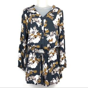 Old Navy Long Sleeve Floral Romper Size S